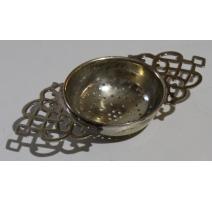 Passeoir à thé en métal argenté anglais