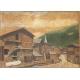 """Tableau """"Village de montagne"""" signé Eug. BROSSY 21"""