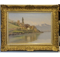 "Tableau ""Saint-Saphorin"" signée C. PARISOD"