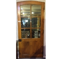 Door, glass pannels, curved to