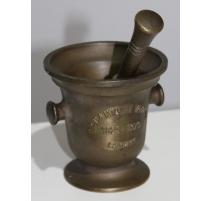 "Mortier ""Tir contanal Vaudois"" en bronze"