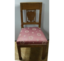 Pair of chairs Empire medallion back