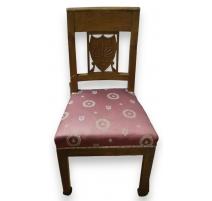 Paire de chaises Empire dossier à médaillon