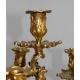 Paire de bougeoirs Louis XV, en bronze.