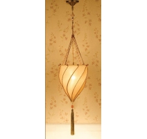 "Suspension ""Agadir"" en tissus beige"