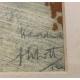 """Gravure """"Trois corbeaux"""" signée"""