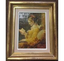 """Reproduction d'un tableau """"Femme lisant"""""""