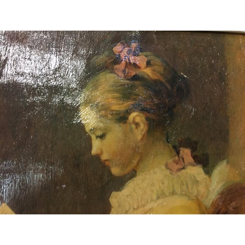 reproduction d 39 un tableau femme lisant sur moinat sa antiquit s d coration. Black Bedroom Furniture Sets. Home Design Ideas