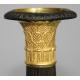 Paire de bougeoirs Empire, en bronze