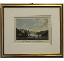 "Gravure ""View of DARTMOUTH CASTLE"" EASTGATE"