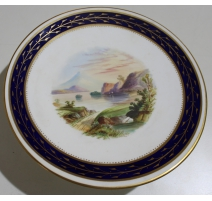 """Coupe en porcelaine """"Loch Arve"""" sur piédouche"""