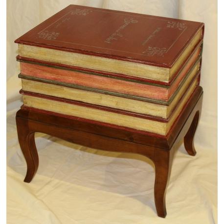 coffre en bois faux livres sur pied sur moinat sa antiquit s d coration. Black Bedroom Furniture Sets. Home Design Ideas