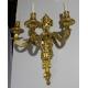 Paire d'appliques style Louis XVI en bronze doré