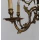 Lustre hollandais en bronze à 12 flammes