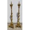 Paire de pique-cierges en bronze