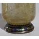 Paire de vases en cristal de roche et argent