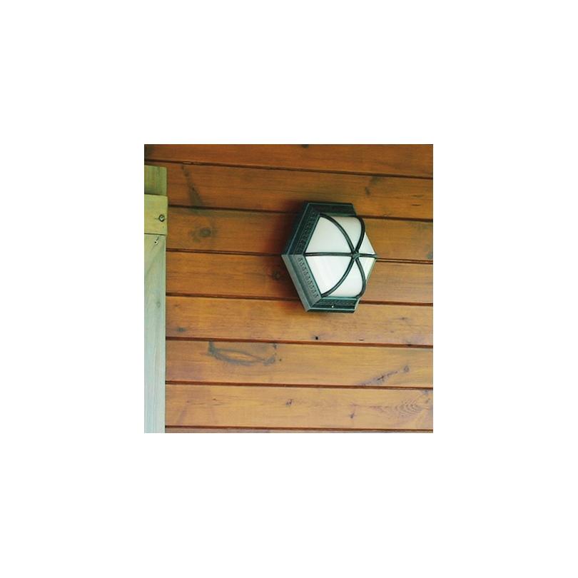 """Applique hexagonale """"Alizée"""" en aluminium vert"""