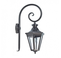"""Lanterne à potence """"Victoria"""" en aluminium noir"""