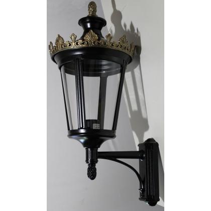 """Lanterne à potence """"Louvre"""" en aluminium noir"""