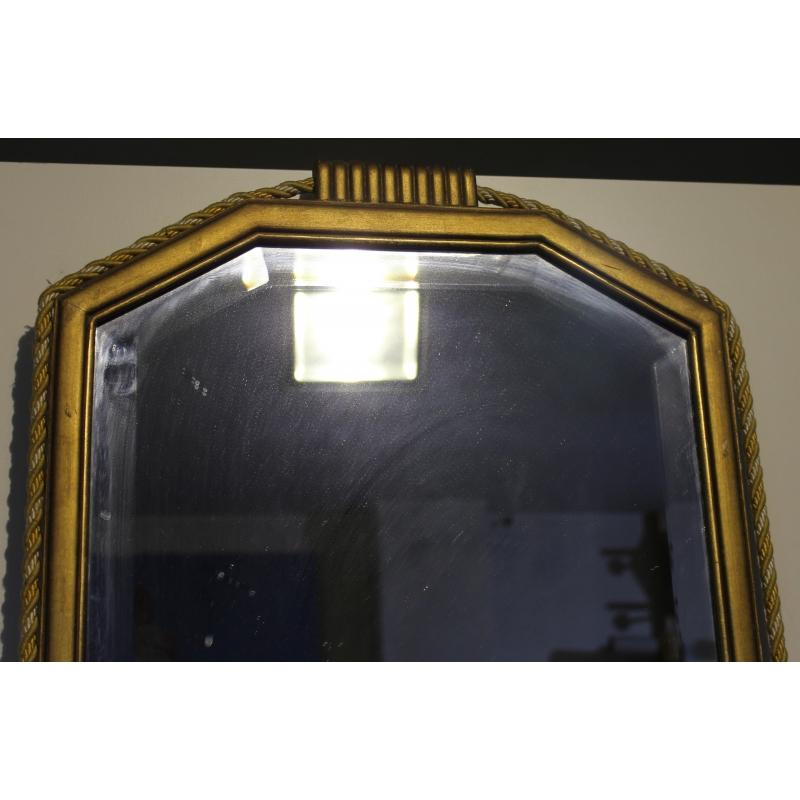 Miroir rectangulaire dor orn de passementerie moinat sa antiquit s d coration for Miroir dore rectangulaire