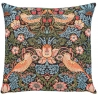 "Coussin ""Strawberry Thief bleu"""