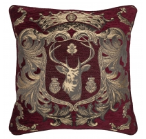 "Coussin ""Regal Stag Rouge"""