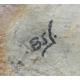 Encrier en céramique signé BONIFAS