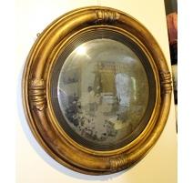 Miroir sorcière verre au mercure convexe