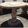 Table ronde ou guéridon en marbre rose