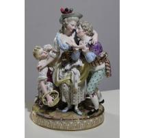 """Groupe en porcelaine de Meissen """"Scène galante"""""""