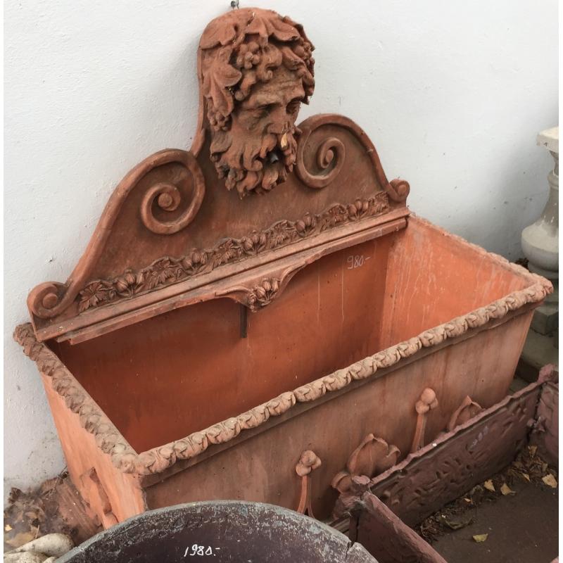 Fontaine rectangulaire en terre cuite moinat sa for Recoller de la terre cuite