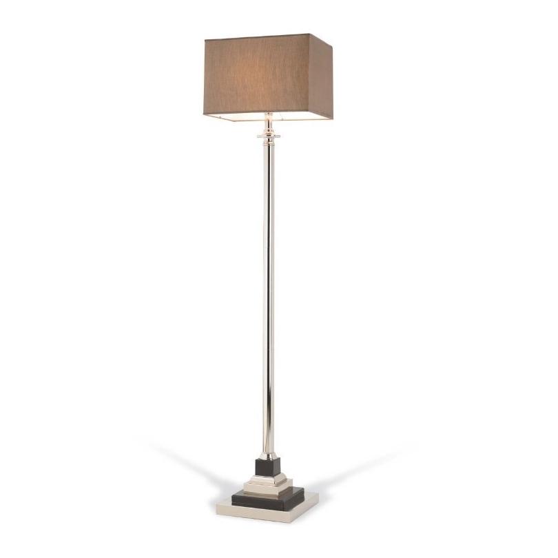 "Lampe ""Krista"" en nickel et marbre noir"