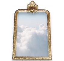 Miroir Régence à fonton sculpté coquille