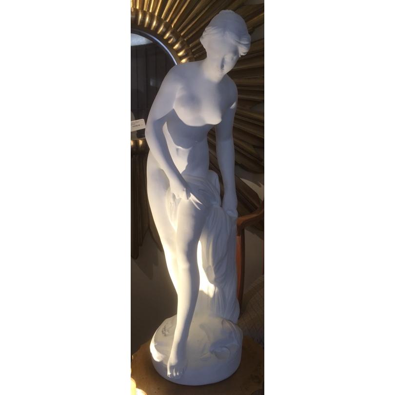"""Statue en plâtre """"Baigneuse"""" d'après FALCONET"""