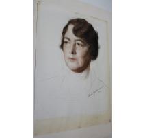 """Pastel """"Portrait d'une femme"""" signé EPSTEIN 1931"""