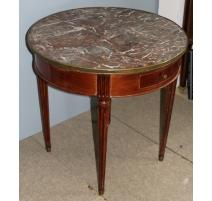 Table bouillotte Louis XVI à 4 pieds