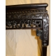 Console chinoise à 4 face en bois de fer et marbre