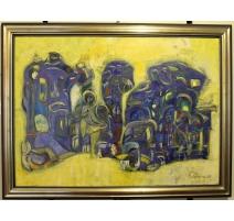 "Tableau ""Sculpture "" signé A. LAGROUNI 89"