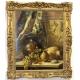 """Tableau """"Nature morte"""" signé Jos. NEUGEBAUER 1873"""