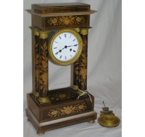 Charles X mantel clock with fl