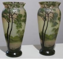 Paire de vases en pâte de verre signés LEGRAS