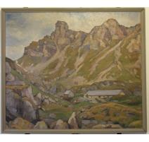 """Tableau """"Paysage de montagne"""" signé A. MAIRET"""