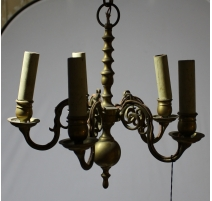 Lustre hollandais en bronze à 5 lumières