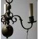 Lustre hollandais en bronze à 3 lumières