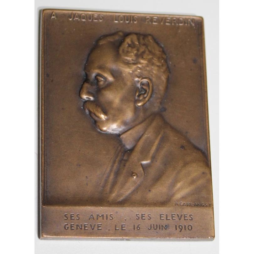 """Médaille """"Jaques Reverdin"""" signée CARL-ANGST"""