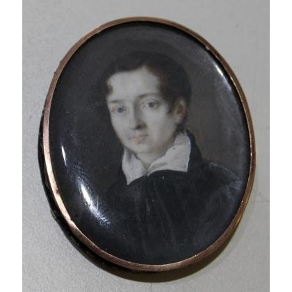 """Miniature ovale """"Jeune homme"""""""