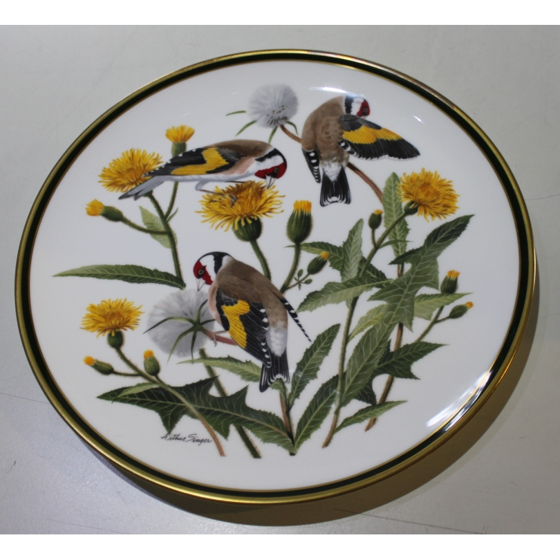 "Assiette en porcelaine ""European Goldfinch"""