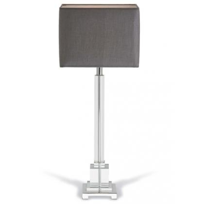 "Lampe ""Darcey"" en nickel et colonne en cristal"