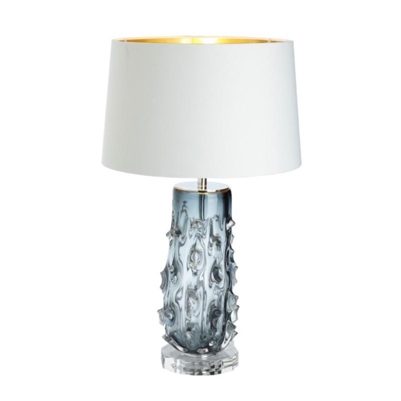 lampe rico en verre souffl et nickel moinat sa