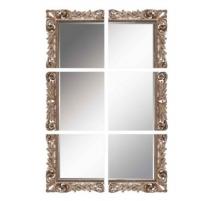 Miroir doré en six morceaux
